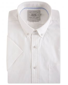 White Washed Oxford Short Sleeve Casual Shirt