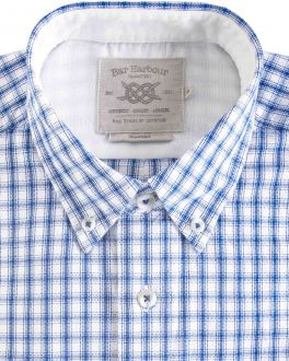 Blue Eddie Oxford Check Casual Shirt