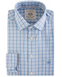 Men's Blue Classic Check Casual Shirt