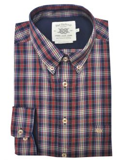Navy and Red Multi Check Casual Shirt