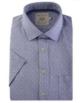 Blue Diamond Short Sleeve Casual Shirt Front