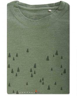Men's Green Not Lost Print T-Shirt Front