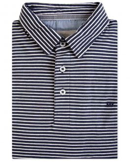 Ink Thin Stripe Polo Shirt