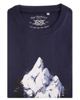 Navy Triangle Landscape Print T-Shirt