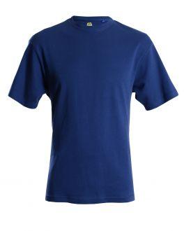 Bar Harbour Plain Navy Ribbed Neck T-Shirt Front