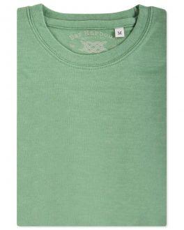 Green Marl Ribbed Neck T-Shirt