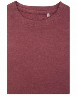 Bar Harbour Brick Red Ribbed Neck T-Shirt