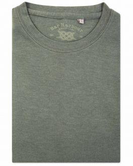 Sage Marl Ribbed Neck T-Shirt