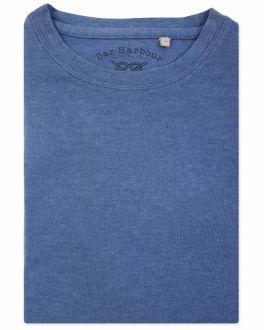 Ancient Blue Marl Ribbed Neck T-Shirt