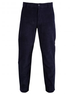 Navy Narrow Wale Corduroy Trousers