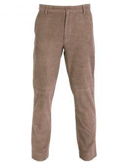 Taupe Narrow Wale Corduroy Trousers