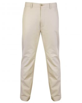 Stone Cotton Chino Trousers