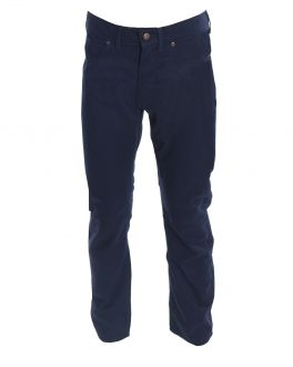Navy Jean Style Chino Trousers