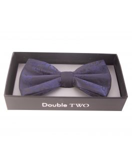 Blue Floral Patterned Bow Tie