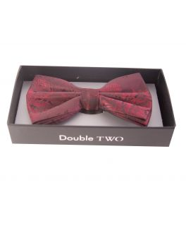 Red Floral Patterned Bow Tie