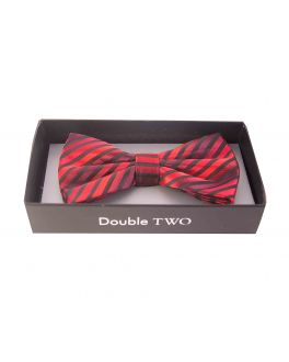 Red Striped Bow Tie