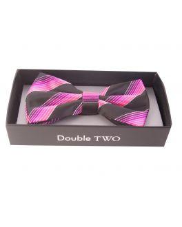 Pink Multi Stripe Bow Tie