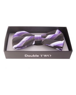 Purple Multi Stripe Bow Tie