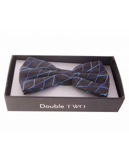 Blue Criss-Cross Bow Tie