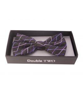 Purple Criss-Cross Bow Tie