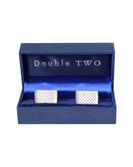 Textured Rectangle Cuff Links