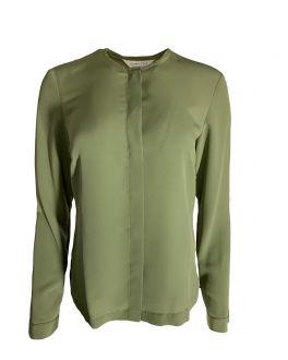 Olive Green Women's Long Sleeve Blouse