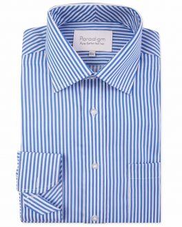 Blue Stripe Luxury Pure Cotton Non-Iron Shirt