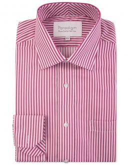 Cherry Stripe Luxury Pure Cotton Non-Iron Shirt