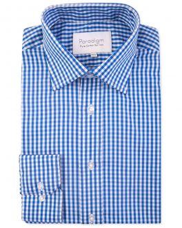 Blue Check Luxury Pure Cotton Non-Iron Shirt