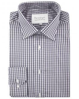 Charcoal Check Luxury Pure Cotton Non-Iron Shirt