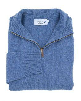 Men's Blue Knitted Jumper
