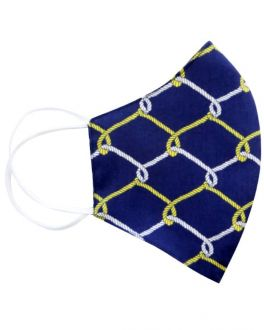 Navy Link Cotton Face Mask