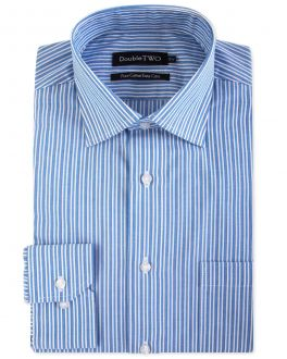 Blue Multi Stripe Formal Shirt