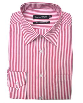 Red and White Striped Easy Care Formal Shirt