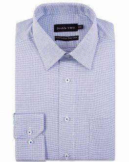 Navy Dobby Weave Formal Shirt