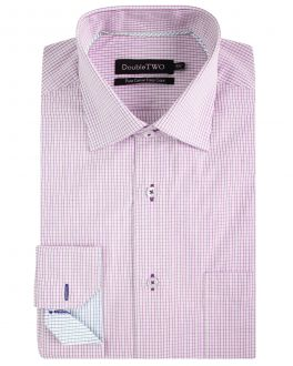 Pink Linear Check Formal Shirt