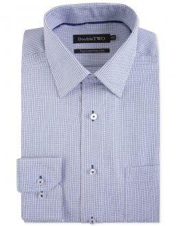 Navy Textured Dobby Formal Shirt