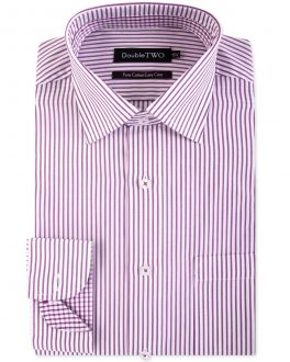 Burgundy Candy Stripe Formal Shirt