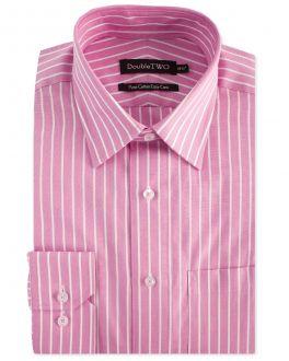 Pink Wide Stripe Formal Shirt
