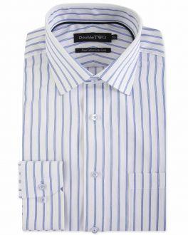 Blue Bar Stripe Formal Shirt