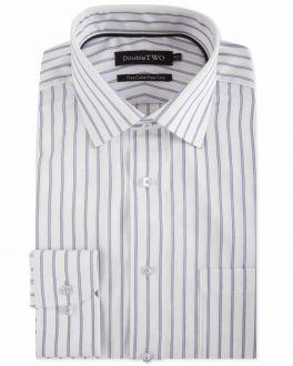 Grey Bar Stripe Formal Shirt