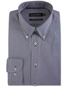 Black Gingham Button Down Formal Shirt