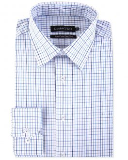 Blue Summer Tattersall Check Formal Shirt