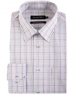 Brown Summer Tattersall Check Formal Shirt