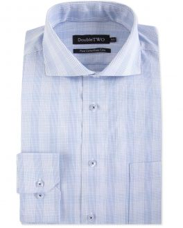 Blue Line Check Formal Shirt