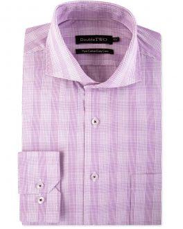 Purple Line Check Formal Shirt