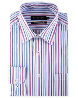 Red Multi Stripe Formal Shirt