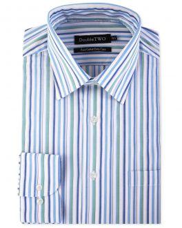 Green Multi Stripe Formal Shirt