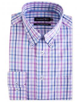 Lilac Multi Bold Check Formal Shirt