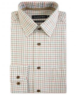 Brown Tattersall Check Warm Handle Formal Shirt